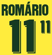 Brazil Romario Nameset 1994 Shirt Soccer Number Letter Heat Print Football Home