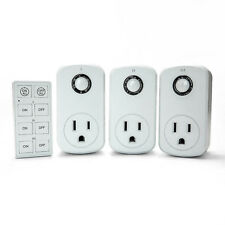 3x Remote Control Outlet Wireless AC Power Electrical Light Switch Socket Plug