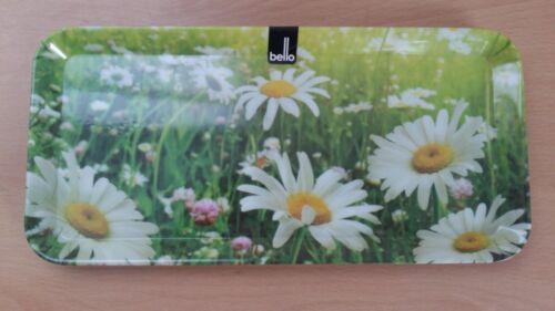 Melamine Tray Daisy Pattern Design 33cmx16cmx1.5cm Great Value