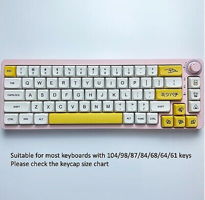 Details about  136 PBT Keycaps, XDA, Land of Milk and Honey. Mechanical keyboard Cherry MX