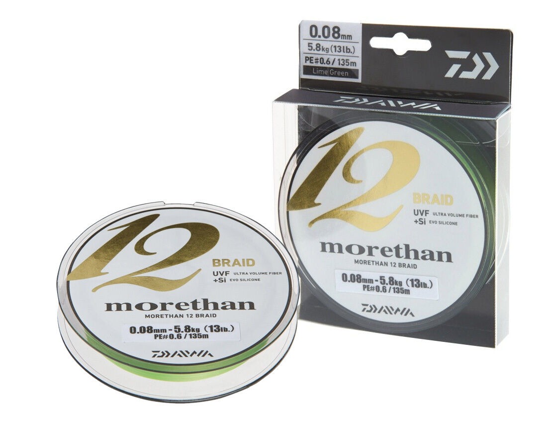 Daiwa Morethan 12 12 12 Braid / 300m / Lime Grün / braided line 0faf2b