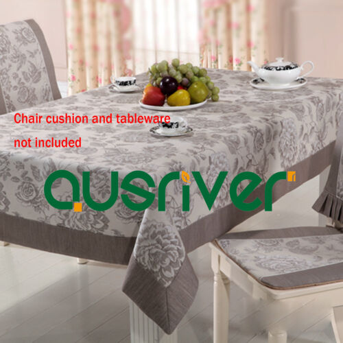 Premium Pink Grey Countryside Style Restaurant Home Hotal Wedding Table Cloth