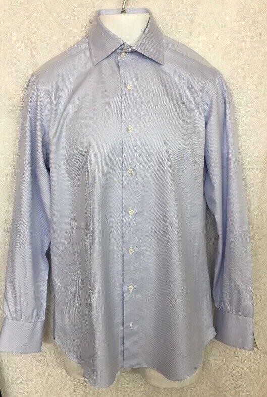Cesare Attolini Shirt Sky Blau Stretch Cotton  Größe 39  15 1 2