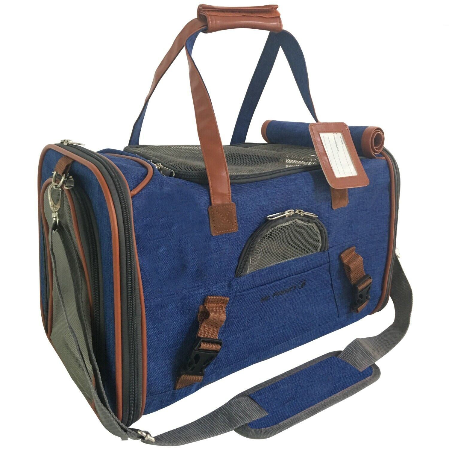 Airline Approved Soft Sided Pet Carrier by Mr. Peanut's, Low Profile Travel Tote