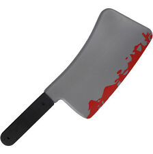 Butchers Bloody Meat Cleaver 45cm Knife Halloween Prop Decoration Weapon Fake