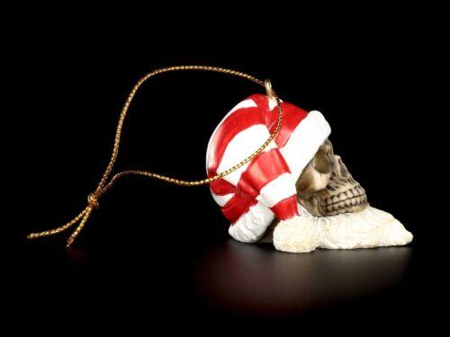 Totenköpfe Weihnachtsmann Christbaum Schmuck 6er Set Schädel Deko Gothic
