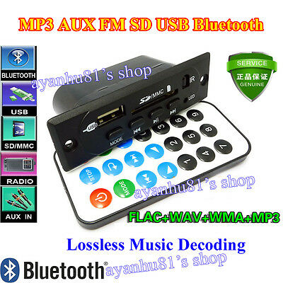 DC 5V-12V Bluetooth Receiver Board SD FM AUX MP3 Decoder FLAC WAV WMA APE Player