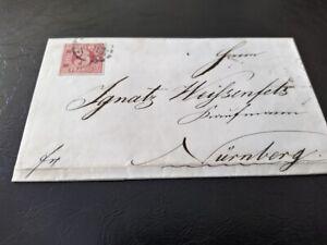 Bayern-Kreuzer-Brief-3-Kr-rot-Mi-Nr-9-oMR-034-356-034-Nuernberg-gt-Weissenfels