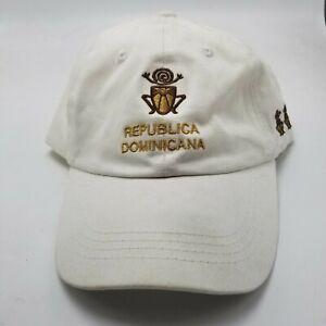 Dominican-Republic-Republica-Hat-Cap-White-Adjustable-Strapback-Used-W2