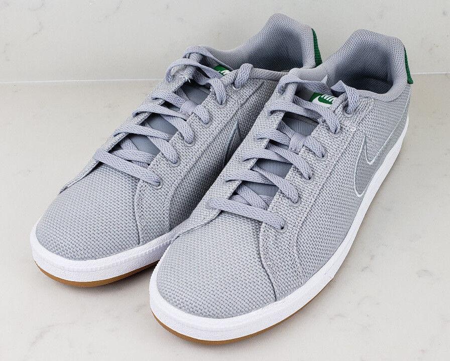 Nike court royale prem grigi, allenatore degli uomini grigi, prem tessuti, scarpe nuove scarpe da ginnastica atletica 11 07d021
