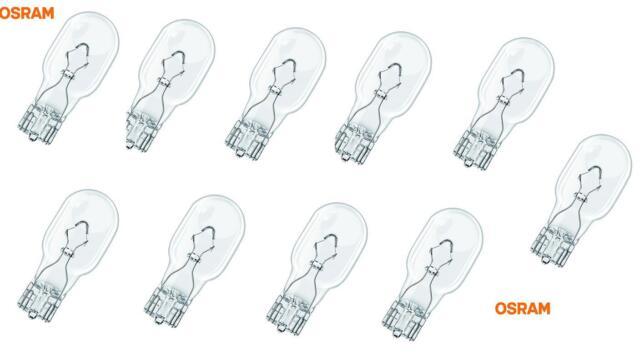 10 Stück W16W 16W 921 12V Glassockel Glühlampe Lampe Osram Birnen