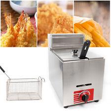 Commercial Deep Fryer Countertop Gas Fryer Propane Lpg 10l Pot With Lid Amp Basket