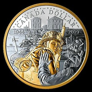 2019-Pure-Silver-Proof-Gold-Plated-Dollar-75th-Anniversary-of-D-Day