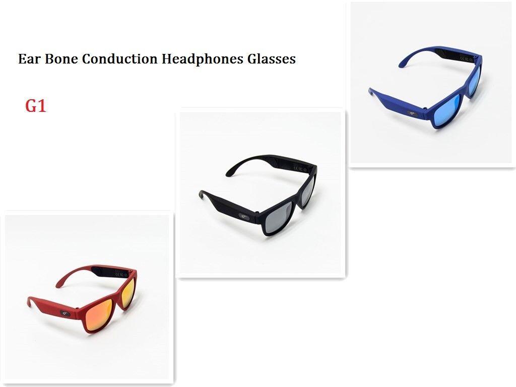 Wireless Open Ear Bone Conduction Headphones Glasses Polarized Sunglasses