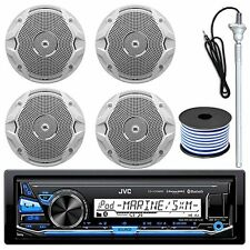 "JVC KDX33MBS USB Bluetooth Marine Radio, JBL MS6510 150W 6.5""Speakers And Wiring"
