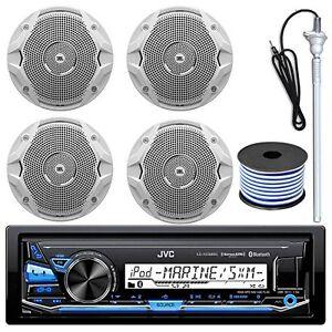 """Pair JBL MS6510 6-½/"""" Dual Cone Marine Speakers White"""