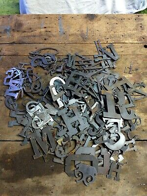 BULK Lot of 50 Wagon Wheels 3 Inch Rough Rusty Metal Vintage Stencil Ornament