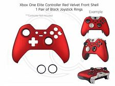 New Xbox One Elite Red Velvet Soft black rings Controller Front Shell Unique mod