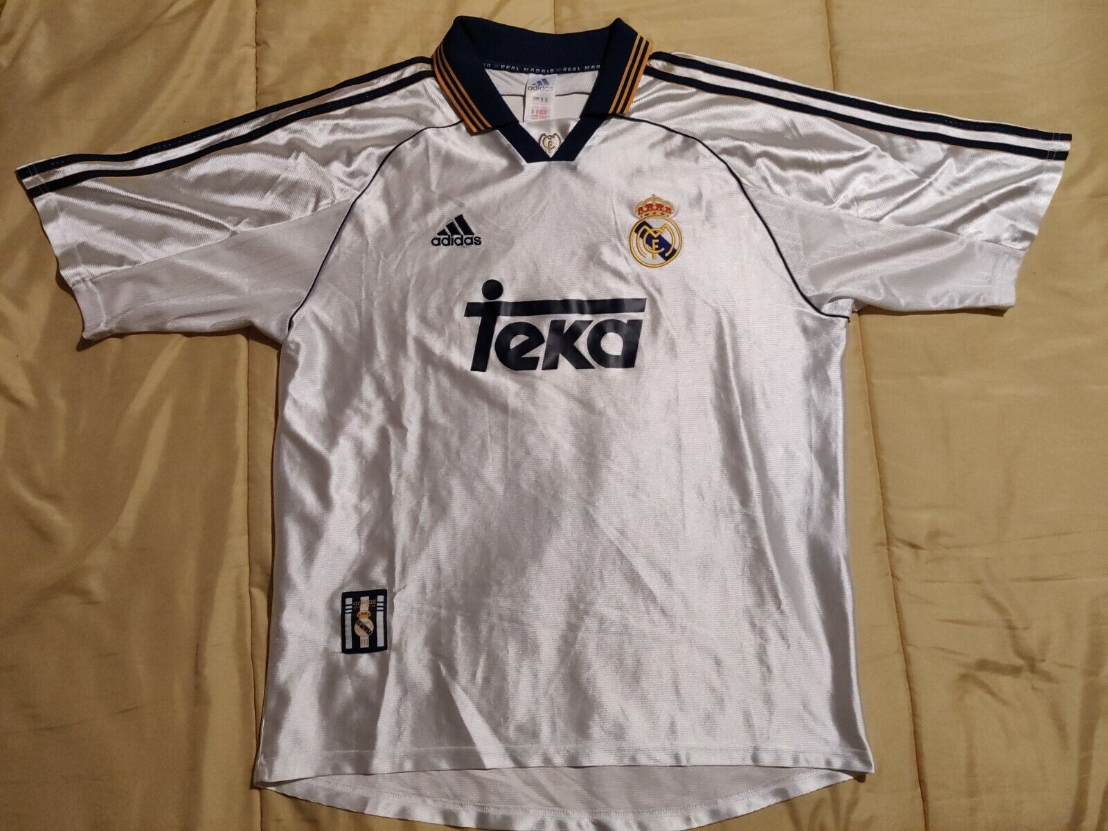 910 Real Madrid UCL Champions 1999 2000 Adidas Shirt Jersey Vintage Spain