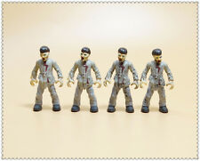 LOT OF 4 Mega Bloks The Walking Dead Call of Duty Zombies  Action Figures MI6