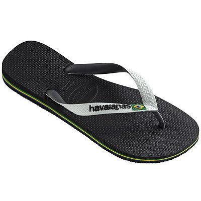 Havaianas Brasil Mix Zehentrenner Sandale Badelatschen Black White 4123206.0133