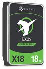 Seagate Exos X18 (7200RPM, 3.5-inch, SATA III, Standard Format) 18TB Internal Enterprise Drive - ST18000NM000J
