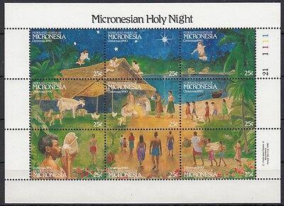 Preisnachlass Mikronesien 1990 Weihnachten 203-11 Kleinbogen **, 23364