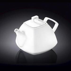 Image is loading Wilmax-England-Teapot-36oz-Tea-Coffee-Elegant-Tableware- & Wilmax England Teapot 36oz Tea Coffee Elegant Tableware 1050ml White ...