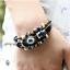Handmade Véritable Vachette Bracelet hommes coréenne Trendsetter Bijoux dindes yeux bleus
