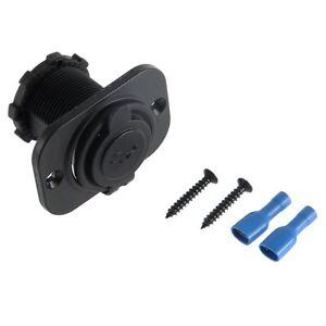 2x-USB-5V-Einbau-Steckdose-12V-Buchse-KFZ-PKW-LKW-Auto-Boot-Motorrad-Wohnmobiljx