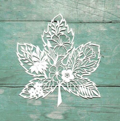 Hoja de arce Flor Metal Corte muere Scrapbooking tarjeta gofrado stencil Craft