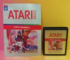 Atari-2600-Real-Sports-Baseball-Game-amp-Instruction-Manual-Tested-Works-Rare