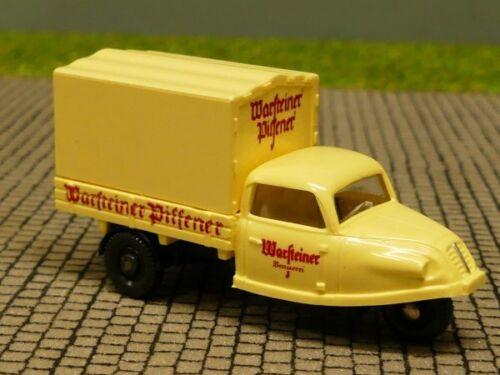 1//87 Wiking Goliath Dreirad Warsteiner Pilsener