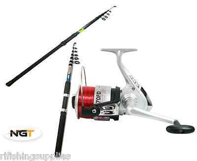 Sea Beach Fishing Telescopic Fishing Rod And Silk 70 Sea Reel 10ft 0r 12ft Rod Ebay