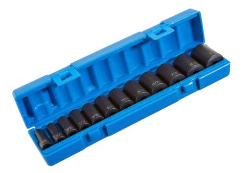 "1213SD 3//8/"" Drive 12-Piece Semi-Deep Standard Socket Set Grey Pneumatic"