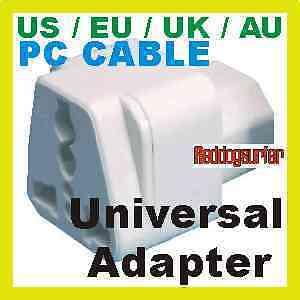 PC Cable type Universal UK/US/EU/AU Travel Power Adapter