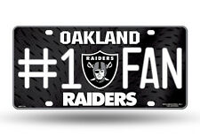 NFL Oakland Raiders #1 Fan Metal Sign License Plate Tag Man Cave