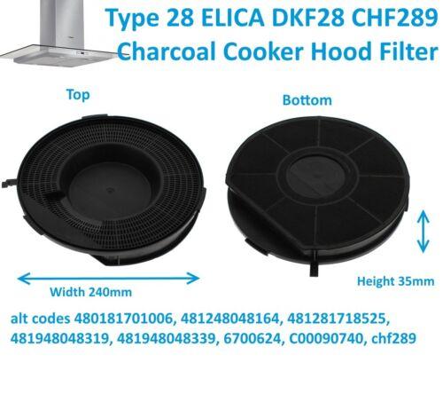GDA Cappa Estrattore Filtro a carbone carbonella tipo 28