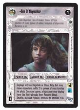 SWCCG Star Wars CCG • Son of Skywalker Luke Jedi Knight • DAGOBAH • RARE