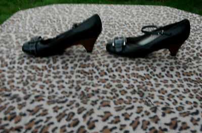 Zapatos De Cuero carvela Negro Uk Size 5 EU 38