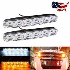 Switchback Dual-Color White/Amber LED Daytime Running Lights For Car SUV Truck