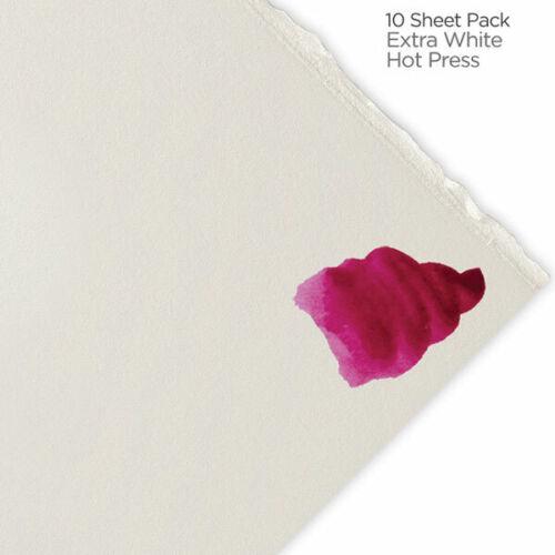 "Hot Press 10-Pack 22x30/"" Extra White Fabriano Artistico Watercolor Paper 300 lb"