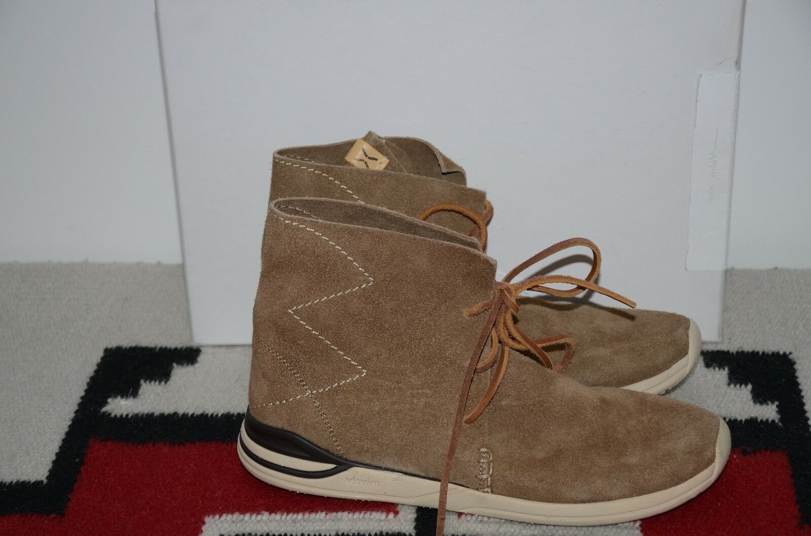 Visvim Huron Moc Hi-Folk Leather Suede Sneaker Boots 9 M