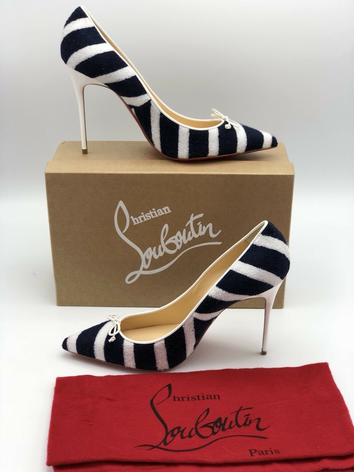 Christian Christian Christian Loubotin Grespa Open Toe shoes Sz. 39  895 100 Percent Authentic 88b354