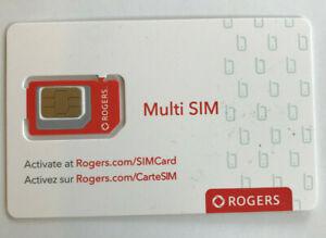 New Rogers Triple cut 3in1 Multi Sim Card 3G 4G LTE Prepaid Postpaid Nano micro