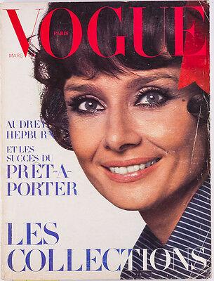 AUDREY HEPBURN French Vogue magazine PARIS March 1971 GUY BOURDIN Helmut Newton