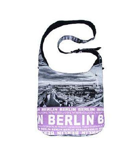 Robin Ruth Grande Borsa A Tracolla Berlino Nuovo/Scatola Originale Skyline Borsa Foto Borsa Viola