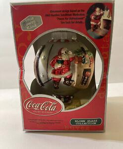 Coca Cola blown glass Christmas ornament 2002 (1963 Illustration) Original box