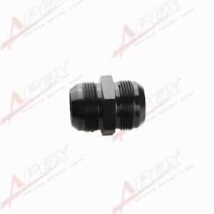 20AN To AN20 AN-20 Aluminum Straight Union Fitting Adapter Black 20AN