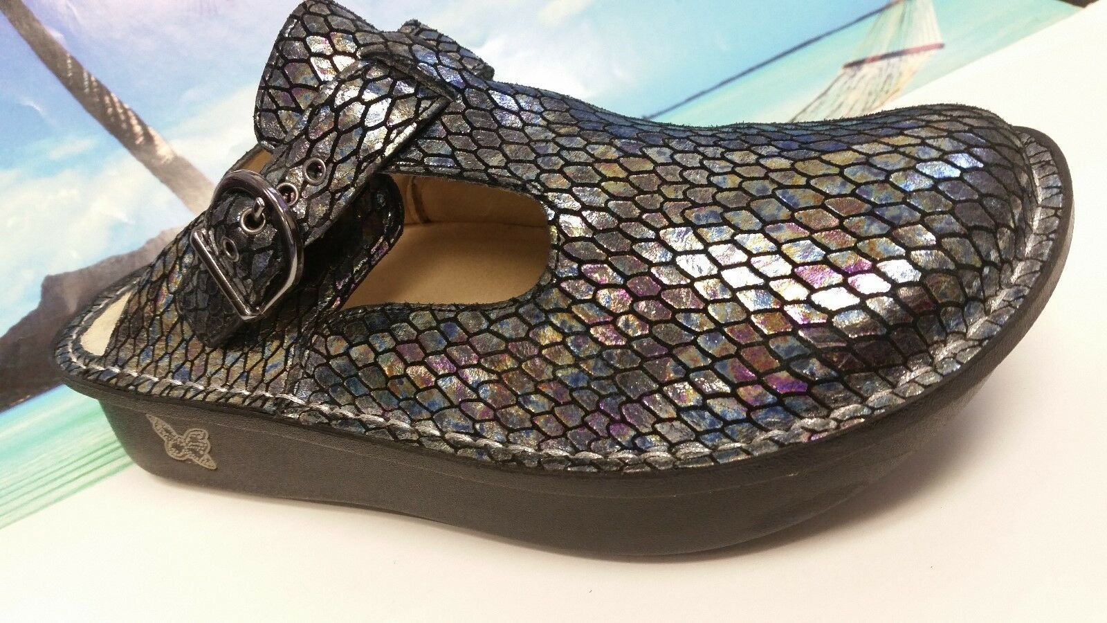 Alegria Multi-Couleur Snake Print Leather Mary Janes femme EUR 37 US 6.5 - 7 m